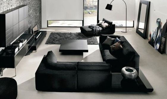 Black Furniture and Light Floors