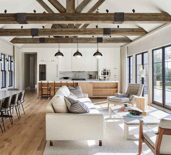 Follow the Same Style as Your Wooden Beams