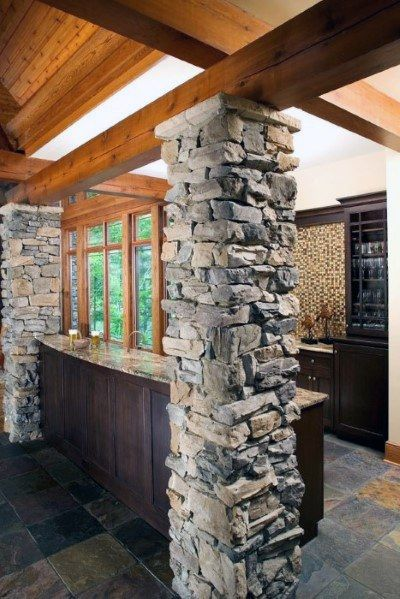 Natural Stone Beams and Columns